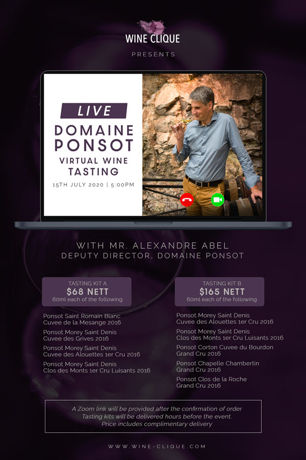 Virtual Wine Tasting - Domaine Ponsot (Set A)